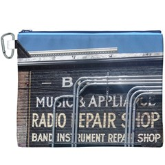 Boise Music And Appliance Radio Repair Painted Sign Canvas Cosmetic Bag (XXXL)