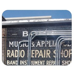 Boise Music And Appliance Radio Repair Painted Sign Double Sided Flano Blanket (Medium)