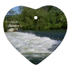Boise River At Flood Stage Ornament (Heart)