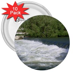 Boise River At Flood Stage 3  Buttons (10 pack)