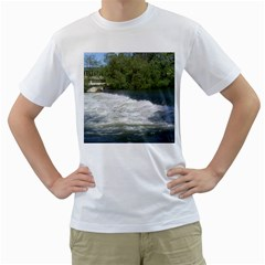Boise River At Flood Stage Men s T-Shirt (White) (Two Sided)