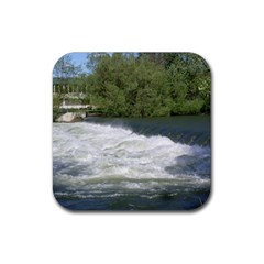 Boise River At Flood Stage Rubber Square Coaster (4 pack)
