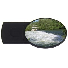 Boise River At Flood Stage USB Flash Drive Oval (1 GB)