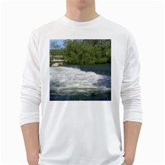Boise River At Flood Stage White Long Sleeve T-Shirts