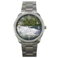 Boise River At Flood Stage Sport Metal Watch