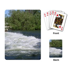 Boise River At Flood Stage Playing Card