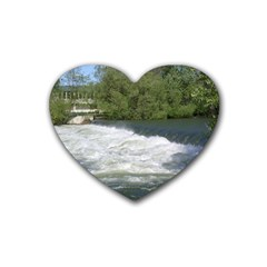 Boise River At Flood Stage Heart Coaster (4 pack)