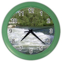 Boise River At Flood Stage Color Wall Clocks