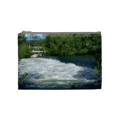 Boise River At Flood Stage Cosmetic Bag (medium)