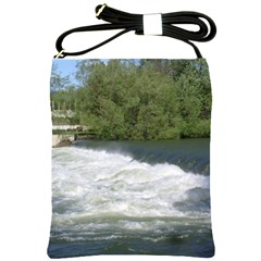 Boise River At Flood Stage Shoulder Sling Bags