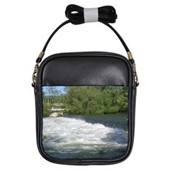 Boise River At Flood Stage Girls Sling Bags