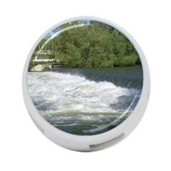 Boise River At Flood Stage 4-Port USB Hub (One Side)
