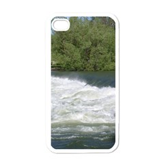Boise River At Flood Stage Apple iPhone 4 Case (White)