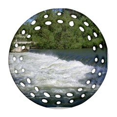 Boise River At Flood Stage Ornament (Round Filigree)