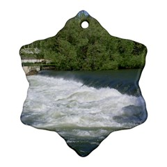 Boise River At Flood Stage Ornament (Snowflake)