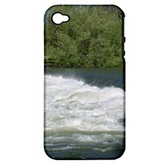 Boise River At Flood Stage Apple iPhone 4/4S Hardshell Case (PC+Silicone)