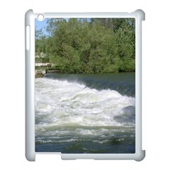 Boise River At Flood Stage Apple iPad 3/4 Case (White)