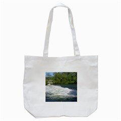 Boise River At Flood Stage Tote Bag (White)