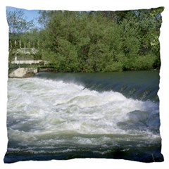 Boise River At Flood Stage Standard Flano Cushion Case (One Side)
