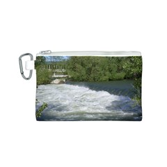 Boise River At Flood Stage Canvas Cosmetic Bag (S)
