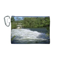 Boise River At Flood Stage Canvas Cosmetic Bag (M)