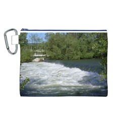 Boise River At Flood Stage Canvas Cosmetic Bag (L)