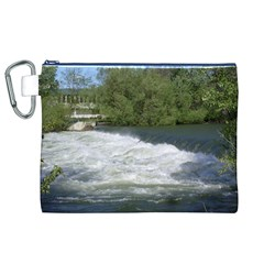 Boise River At Flood Stage Canvas Cosmetic Bag (XL)