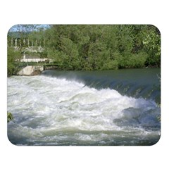 Boise River At Flood Stage Double Sided Flano Blanket (Large)