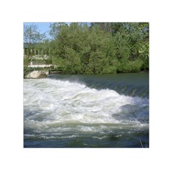 Boise River At Flood Stage Small Satin Scarf (Square)