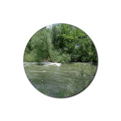 Boise River Gone Wild 2017 Rubber Round Coaster (4 pack)