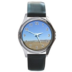 Bruneo Sand Dunes Round Metal Watch