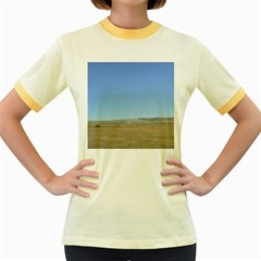 Bruneo Sand Dunes Women s Fitted Ringer T-Shirts