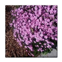 Butterfly On Purple Flowers Tile Coasters
