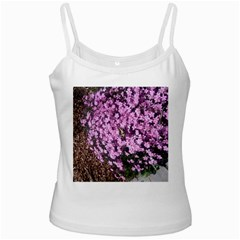 Butterfly On Purple Flowers Ladies Camisoles