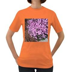 Butterfly On Purple Flowers Women s Dark T-Shirt