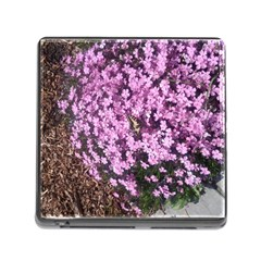 Butterfly On Purple Flowers Memory Card Reader (Square)
