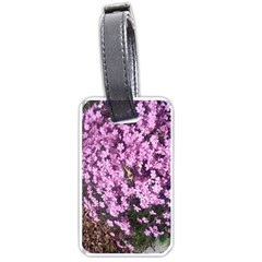 Butterfly On Purple Flowers Luggage Tags (Two Sides)