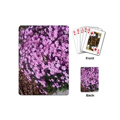 Butterfly On Purple Flowers Playing Cards (Mini)