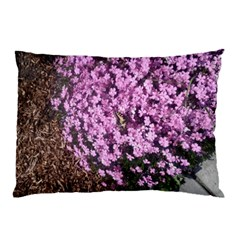 Butterfly On Purple Flowers Pillow Case (Two Sides)