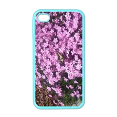 Butterfly On Purple Flowers Apple iPhone 4 Case (Color)