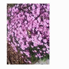 Butterfly On Purple Flowers Large Garden Flag (two Sides)