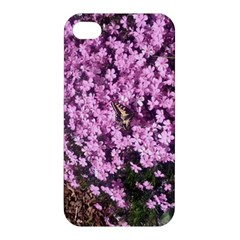Butterfly On Purple Flowers Apple iPhone 4/4S Premium Hardshell Case
