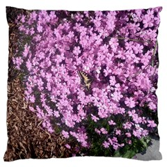 Butterfly On Purple Flowers Large Cushion Case (Two Sides)