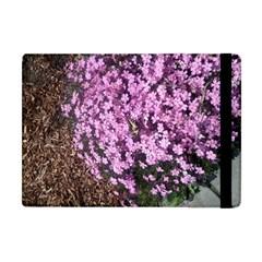 Butterfly On Purple Flowers Apple iPad Mini Flip Case