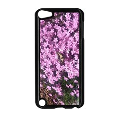 Butterfly On Purple Flowers Apple iPod Touch 5 Case (Black)