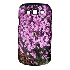 Butterfly On Purple Flowers Samsung Galaxy S III Classic Hardshell Case (PC+Silicone)