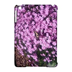 Butterfly On Purple Flowers Apple iPad Mini Hardshell Case (Compatible with Smart Cover)