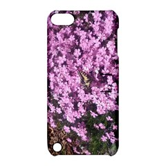 Butterfly On Purple Flowers Apple iPod Touch 5 Hardshell Case with Stand