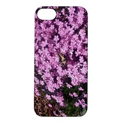 Butterfly On Purple Flowers Apple iPhone 5S/ SE Hardshell Case