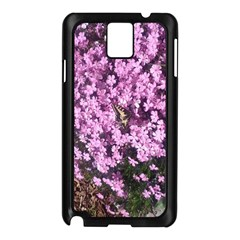 Butterfly On Purple Flowers Samsung Galaxy Note 3 N9005 Case (Black)